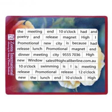 Magnetic Customised Poetry...