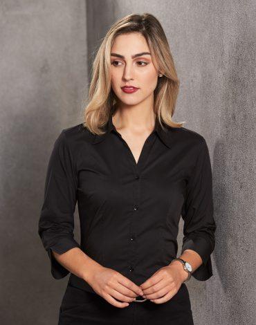 Ladies' ¾ Sleeve Teflon Business Shirt