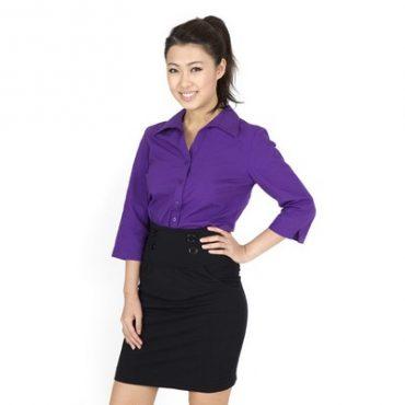 Ladies ¾ Sleeve Customised Business Shirt Min 25